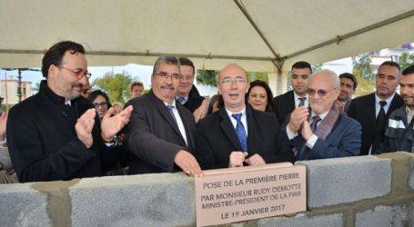 Pose de la première pierre de l'École Belge de Rabat