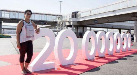 FRS récompense son 20 millionième passager avec 20.000 euros (Photos)