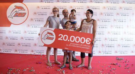 FRS récompense son 20 millionième passager avec 20.000 euros