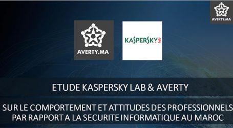 Kaspersky/averty révèle des vulnérabilités majeures dans les comportements et usages des professionnels au Maroc