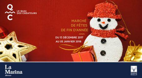 La Magie des fêtes de fin d'année investit  Le Quai Des Créateurs de la Marina Morocco
