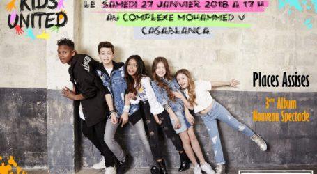 Les Kids United en concert  le 27 janvier 2018 à Casablanca