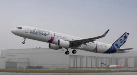 le vol inaugural de l'A321 LR de Airbus