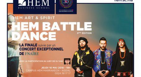 Un concert exceptionnel du Groupe FNAIRE pour clôturer la grande finale  de ''HEM Battle Dance'' à Marrakech !