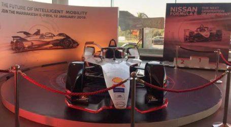 La voiture de compétition officielle de Nissan est enfin arrivée au Maroc