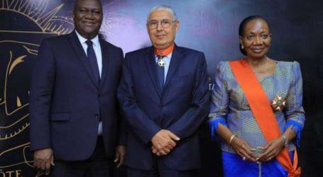 EL KETTANI PDG du groupe Attijariwafa bank élevé au grade de Commandeur de l'Ordre National de Côte d'Ivoire