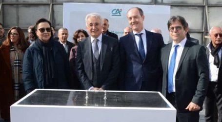 Le Crédit du Maroc pose la première pierre de son nouveau siège social « Les Arènes ».