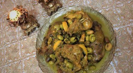 Recette du jour : poulet au « meslalla » (olives cassées)