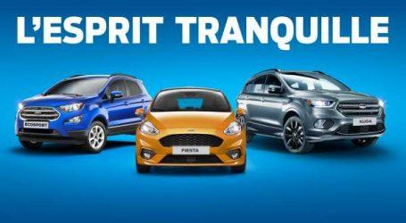 """Ford lance l'offre """"ESPRIT TRANQUILLE"""" sur toute la gamme de voitures particulières"""