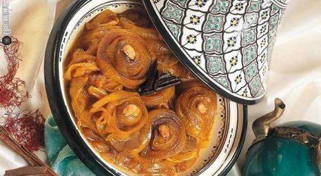 Recette du jour : Tajine de viande aux amandes et oignons (k'dra)
