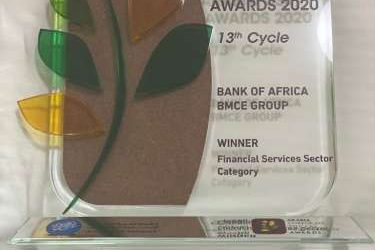 "Bank of Africa BMCE Group primée au 13ème cycle des Arabia CSR Awards « Arabia Corporate Social Responsibility Awards 2020 » – Catégorie ""Financial Services"" –"
