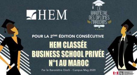 HEM classée Business School Privée N°1 au Maroc par le Baromètre DIORH – Campus Mag
